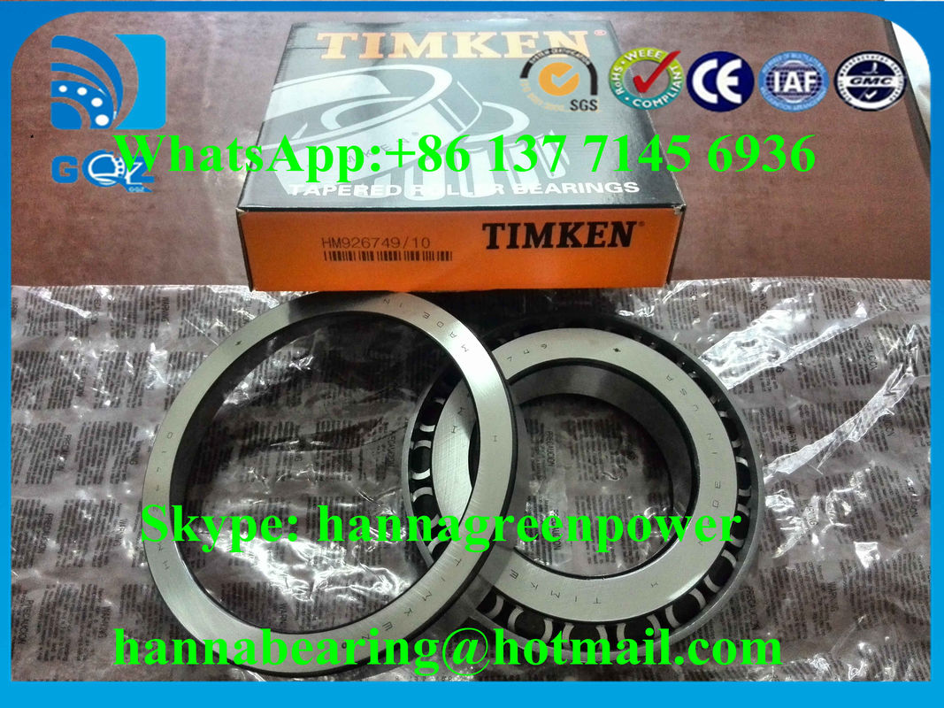 HM926749/HM926710 Inch Single Row Tapered Roller Bearings 127.792x228.6x53.975mm