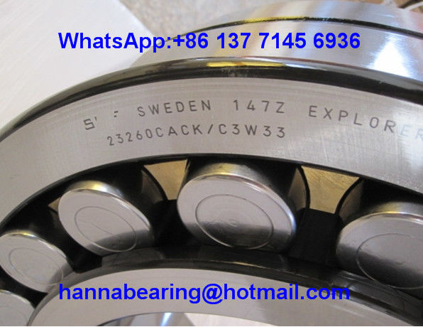 23260CACK/C3W33 Brass Cage Spherical Roller Bearing 23260CC 300x540x192mm
