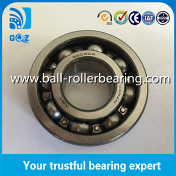 C4 Clearance Open Type Automobile Ball Bearings / High Precision Ball Bearing NSK 6204C4