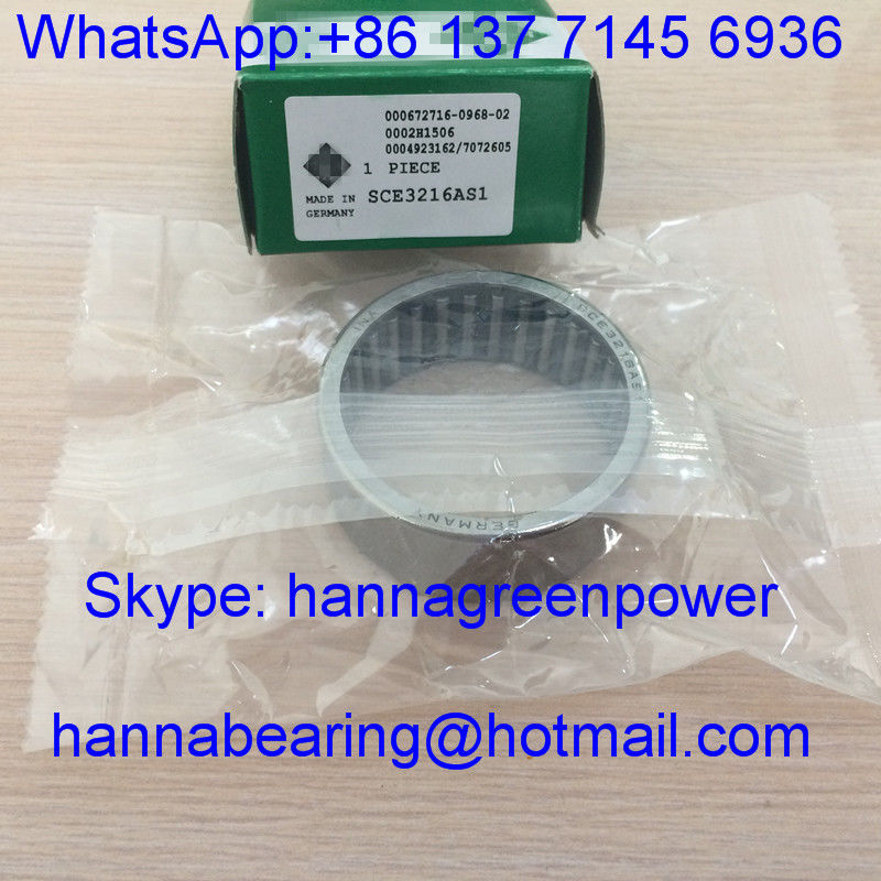 SCE3216AS1 / SCE3216 Inch Drawn Cup Needle Roller Bearings with Open Ends , 50.8*60.325*25.4mm
