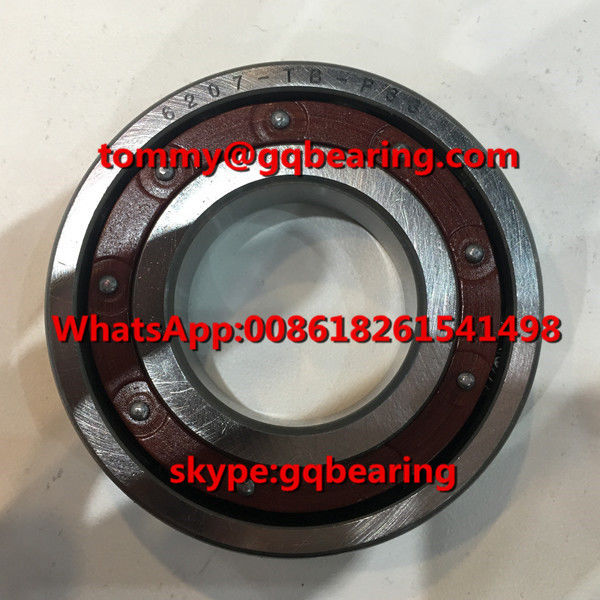 P63 Precision 6207TB-P63 Single Row Phenolic Resin Material Cage Deep Groove Ball Bearing