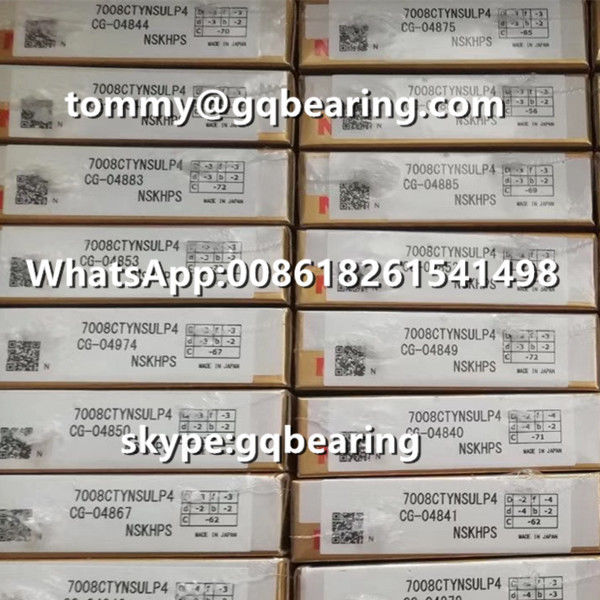 15 Degree Contact Angle Single Universal NSK 7008CTYNSULP4 Angular Contact Ball Bearing