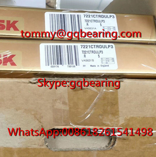 P3 Super Precision NSK 7221CTRDULP3 Single Row Angular Contact Ball Bearing